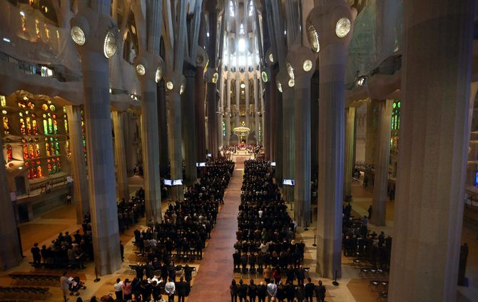 Memorial service for the 150 victims of the Germanwings crash in Barcelona